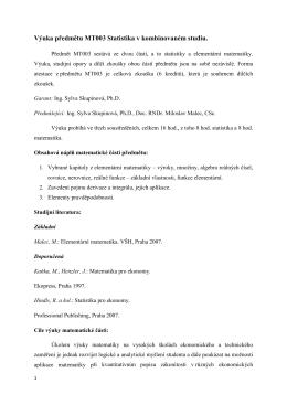 Studijní opory matematika MT003 Malec