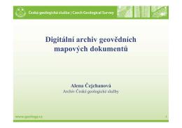 Digitální archiv geovědních mapových dokumentů
