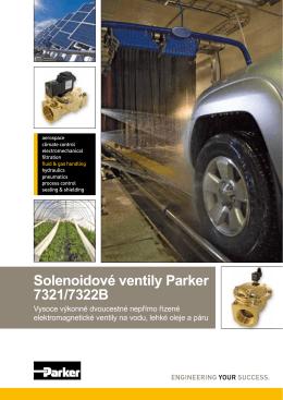 Solenoidové ventily Parker 7321/7322B