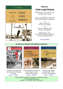 Prodej knihy - Vzlet a pád Sokola