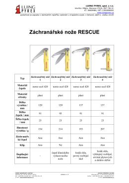 Záchranářské nože RESCUE