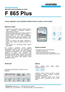 F 865 Plus - Winterhalter