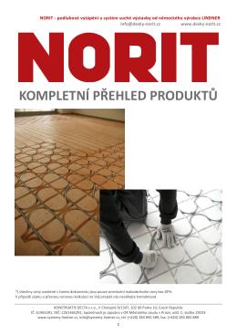 kompletní přehled produktů - NORIT
