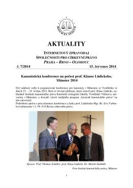 Aktuality č. 7/2014 - Společnost pro církevní právo