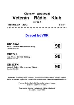 1/2012 - Veterán Radio Klub