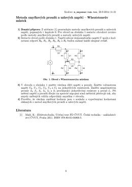 Metoda smyčkových proudů a uzlových napětí