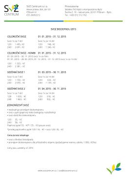 Ceník 2015 v PDF - Skládka Příbram