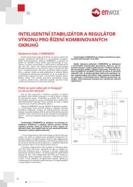inteligentní stabilizátor a regulátor výkonu pro řízení kombinovaných