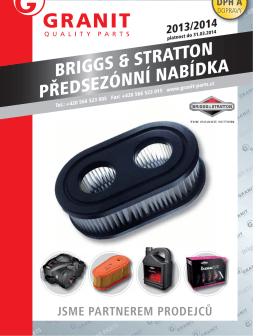 BRIGGS & STRATTON PŘEDSEZÓNNÍ NABÍDKA