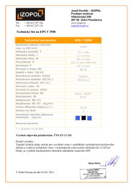 Technický list na EPS T 3500