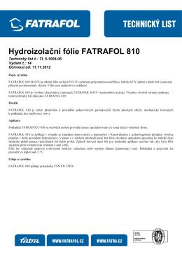 Hydroizolační fólie FATRAFOL 810