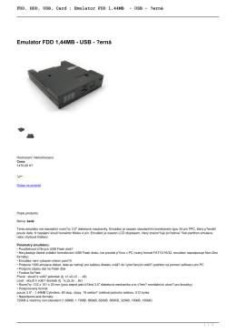 FDD, HDD, USB, Card : Emulator FDD 1,44MB - USB