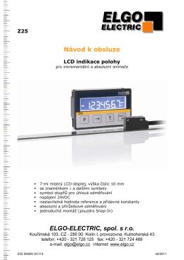 Z25 SV112 - ELGO-ELECTRIC spol. s ro