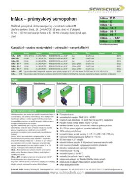 InMax – průmyslový servopohon