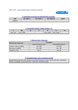 ČSN 11343 – ocel obvyklých jakostí vhodná ke svařování 1