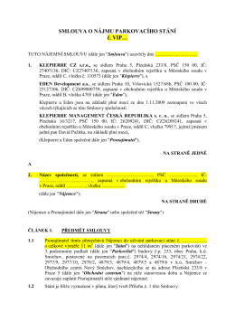 SMLOUVA O NÁJMU PARKOVACÍHO STÁNÍ č. VIP…