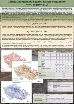 Maximální přípustná hodnota faktoru ochranného vlivu vegetace (C