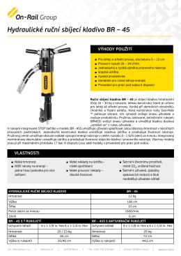 Hydraulické ruční sbíjecí kladivo BR – 45 - On