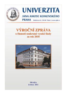 Výroční zpráva 2010 - Univerzita Jana Amose Komenského Praha