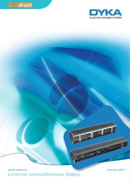 Plastové potrubní systémy - Liniové odvodňovací žlaby