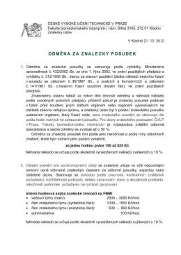 ODMĚNA ZA ZNALECKÝ POSUDEK - fbmi.cvut.cz