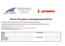 Ceník Redster Atomic - AMER SPORTS Cup 2015
