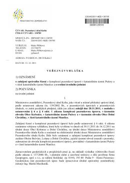 svolání úvodního jednání(pdf) - Informační server obce Dolní Chvatliny