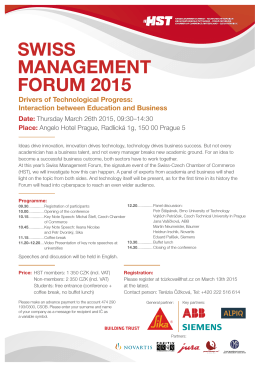 SWISS MANAGEMENT FORUM 2015