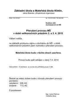 Plakát v pdf - Základní škola a Mateřská škola Křetín