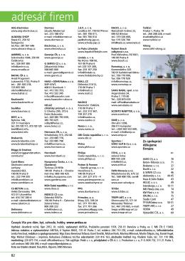 adresář firem - Vše pro dům, byt, zahradu, hobby