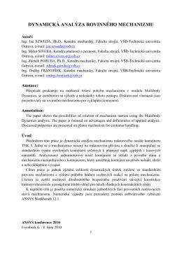 Szweda: Dynamicka analyza rovinneho mechanizmu.pdf