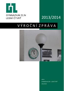 PDF, Výroční zpráva za rok 2013/2014 - Gymnázium Zlín