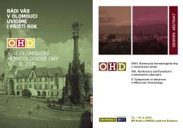 SBORNÍK ABS TR AKT - OHD - Olomoucké Hematologické dny