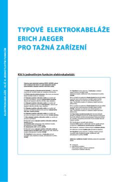 Katalog 2013 - elektrokabeláže k tažným zařízením