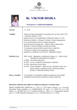 Bc. VIKTOR HOJKA