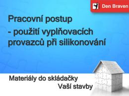 Silikonování s provazcem - PDF