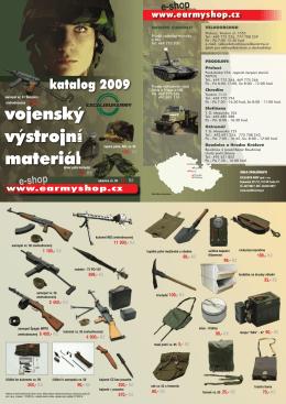 Katalog výstrojního materiálu 2009