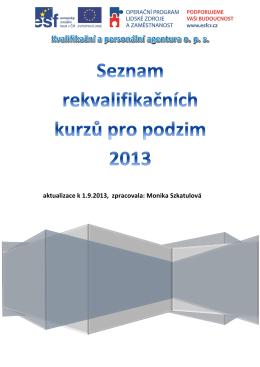 katalog RK - aktualizace k 1.9.2013