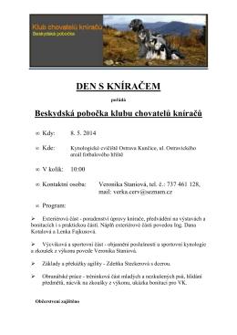 DEN S KNÍRAČEM - Klub chovatelů kníračů