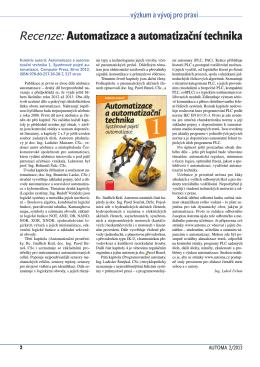 Recenze:Automatizace a automatizační technika
