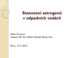 Optimalizace stanovení estrogenů v odpadních vodách - E