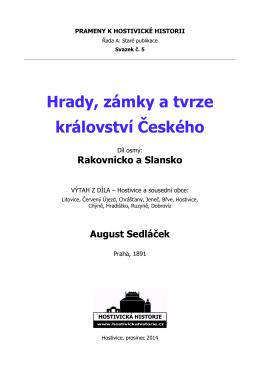 Hrady, zámky a tvrze Království českého VIII.