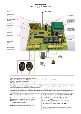 Návod k použití schéma zapojení RJ 10 SMD