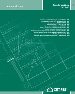8 Výrobní program 8 Fasádní systémy CETRIS