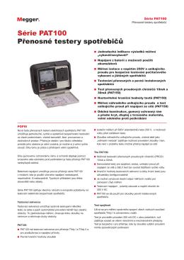 Série PAT100 Přenosné testery spotřebičů