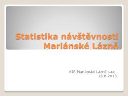 Statistika návštěvnosti Mariánské Lázně