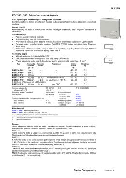 36.027/1 EGT 330...335: Snímač prostorové teploty Sauter