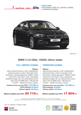 BMW 5 - ALD Automotive Operational Leasing Solutions