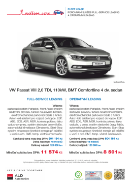 Volkswagen Passat - ALD Automotive Operational Leasing Solutions