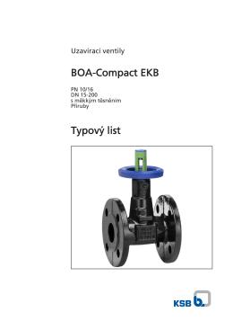 Typový list BOA-Compact EKB
